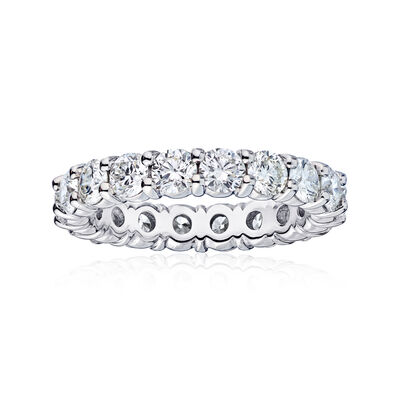3.61 ct. t.w. Diamond Wedding Eternity Band in 14kt White Gold