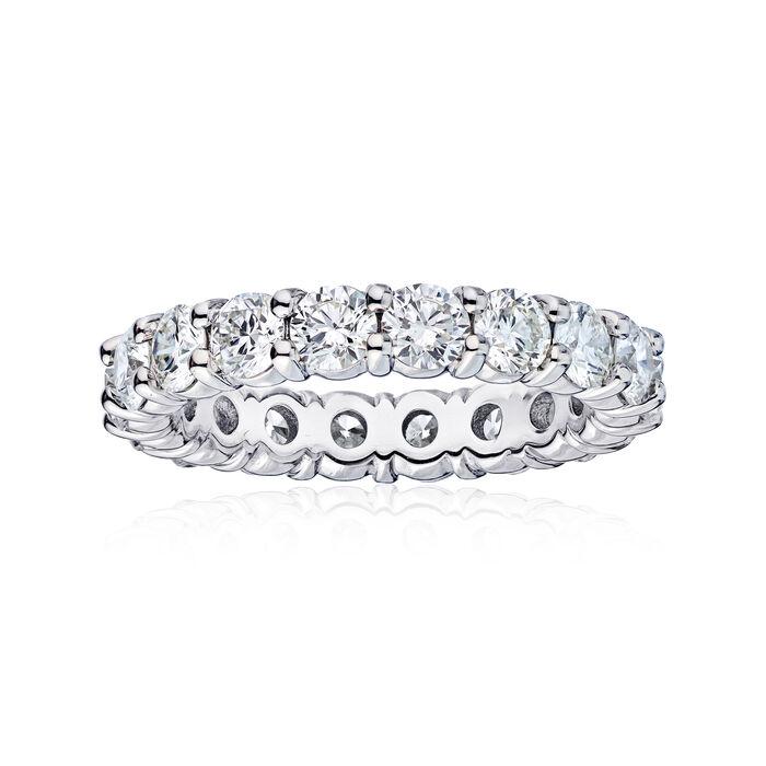 3.61 ct. t.w. Diamond Wedding Eternity Band in 14kt White Gold