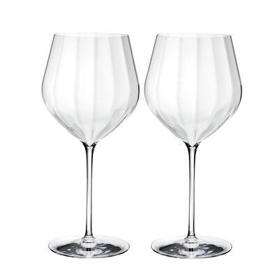 "Waterford Crystal ""Elegance Optic"" Set of Two Big Red Wine Glasses, , default"