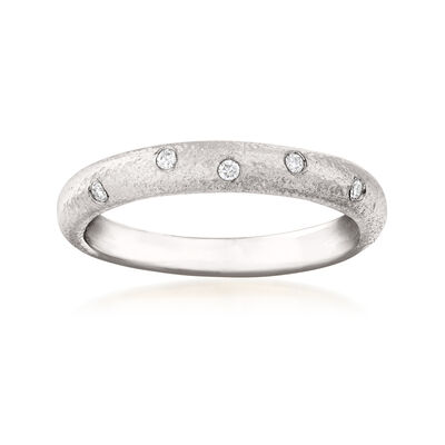 14kt White Gold Ring with Diamond Accents, , default