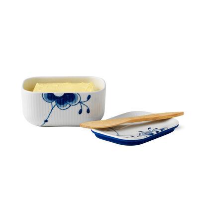 """Royal Copenhagen """"Blue Fluted Mega"""" Porcelain Butter Jar with Lid"""