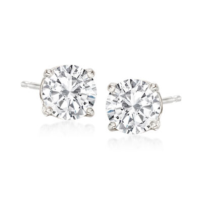 1.60 ct. t.w. Diamond Stud Earrings in 14kt White Gold