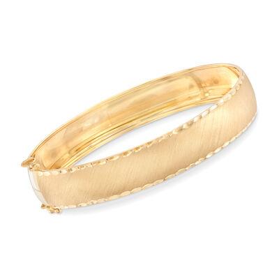 Italian 14kt Yellow Gold Bangle, , default