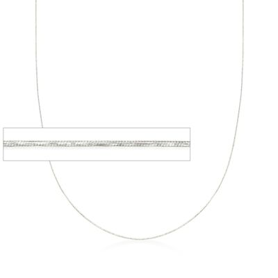 .8mm 14kt White Gold Adjustable Snake Chain Necklace, , default