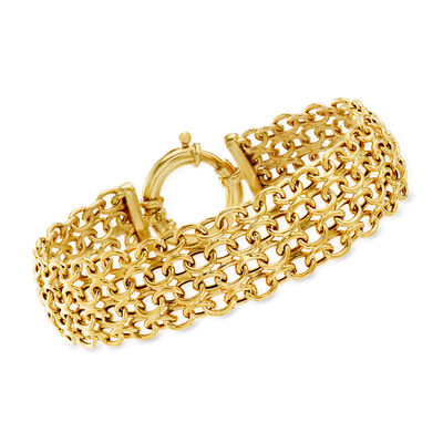 14kt Yellow Gold Four-Row Link Bracelet