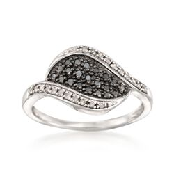 .17 ct. t.w. Black and White Diamond Ring in Sterling Silver, , default