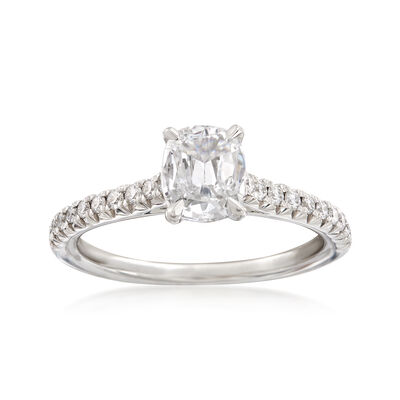 Henri Daussi .98 ct. t.w. Diamond Engagement Ring in 18kt White Gold, , default
