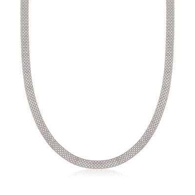 Sterling Silver Bismark Chain Necklace, , default