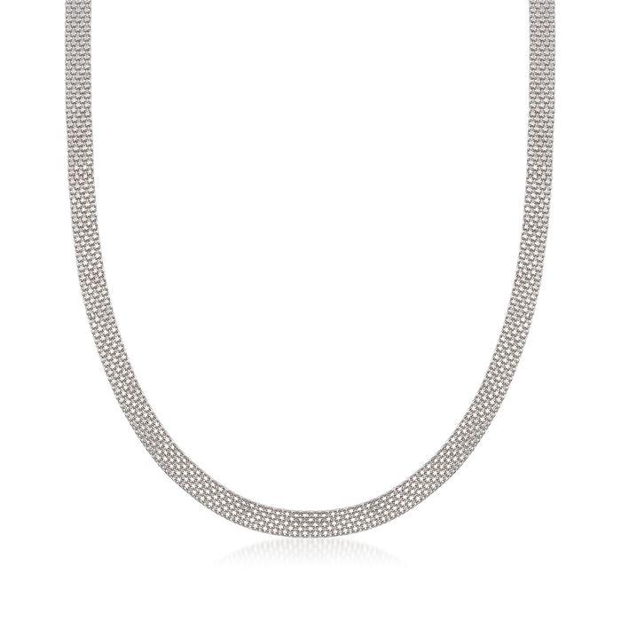 Sterling Silver Bismark-Link Necklace, , default