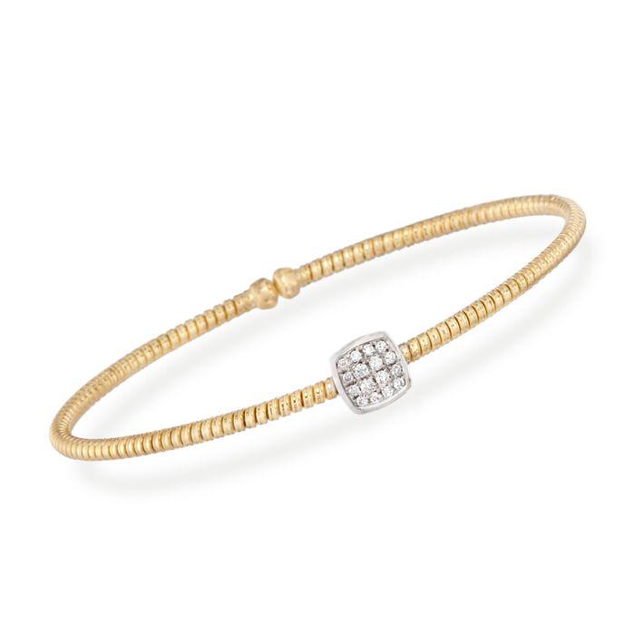.16 ct. t.w. Diamond Square Bracelet in 18kt Yellow Gold