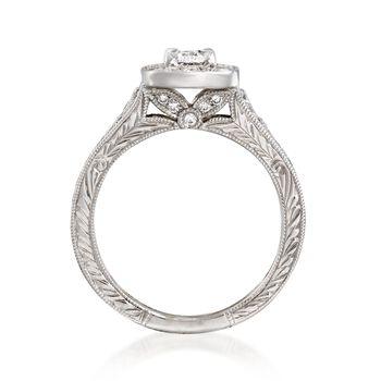 Henri Daussi 1.09 ct. t.w. Diamond Engagement Ring in 18kt White Gold