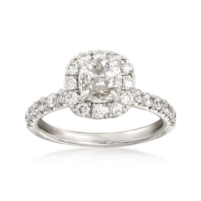 Henri Daussi 1.75 ct. t.w. Certified Diamond Engagement Ring in 18kt White Gold