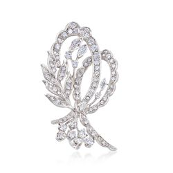 C. 1970 Vintage 4.60 ct. t.w. Floral Diamond Pin in Platinum, , default