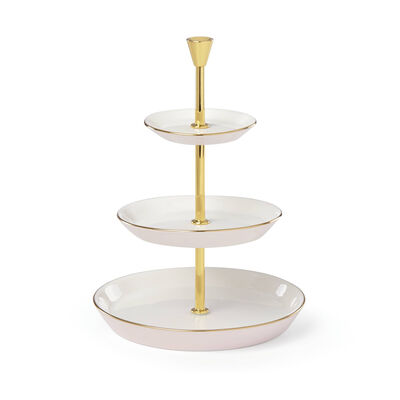 "Kate Spade New York ""Two Hearts"" Ceramic Porcelain Tiered Jewelry Holder, , default"