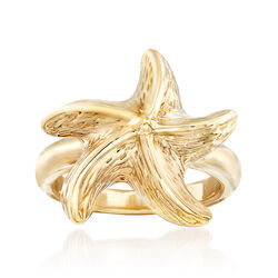 Starfish Ring in 14kt Yellow Gold, , default