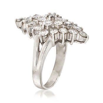 C. 1980 Vintage 2.12 ct. t.w. Diamond Cluster Ring in Platinum. Size 5, , default