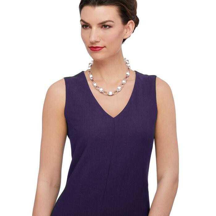 "Zina Sterling Silver ""Contemporary"" Large Silken-Link Necklace. 18"", , default"