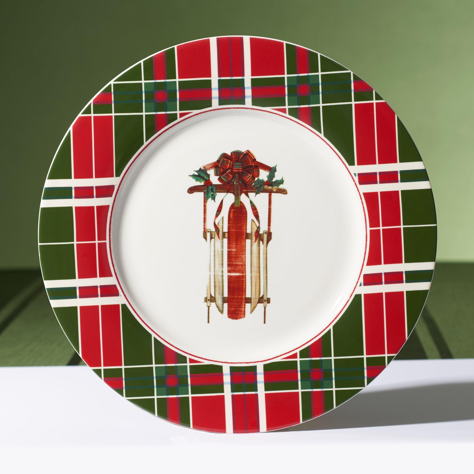 Lenox u0026quot;Vintage Plaidu0026quot; Porcelain Dinnerware With Bonus u0026quot;Holiday Jewelsu0026quot; Serveware & Lenox