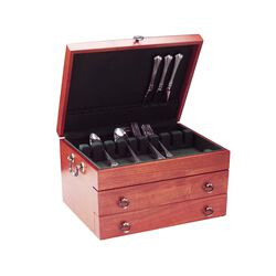 "Reed & Barton ""Bristol Grande"" Cherry Flatware Chest, , default"