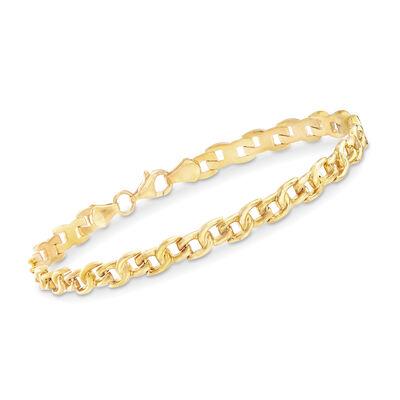 22kt Yellow Gold Small-Link Bracelet, , default