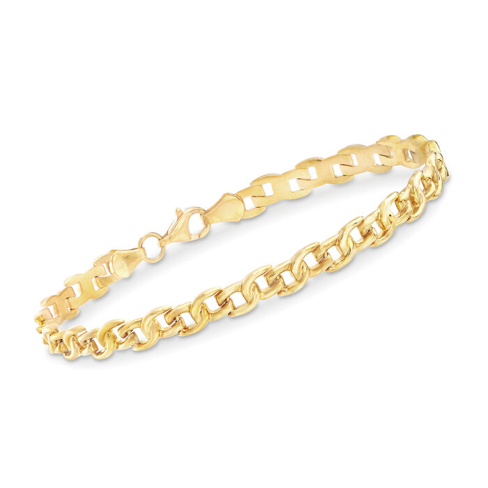 22kt Yellow Gold Small-Link Bracelet