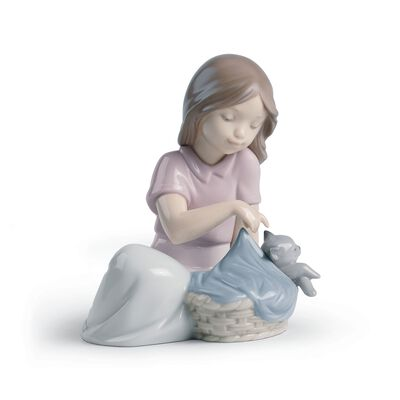 "Nao ""Sleep Little Cat"" Porcelain Figurine, , default"
