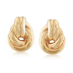 Italian 18kt Yellow Gold Over Sterling Silver Doorknocker Earrings, , default