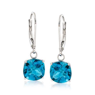 5.00 ct. t.w. London Blue Topaz Drop Earrings in Sterling Silver, , default