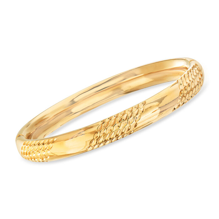 Andiamo 14kt Yellow Gold Bangle Bracelet with Magnetic Clasp, , default
