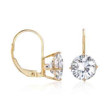 4.00 ct. t.w. CZ Drop Earrings in 14kt Yellow Gold , , default