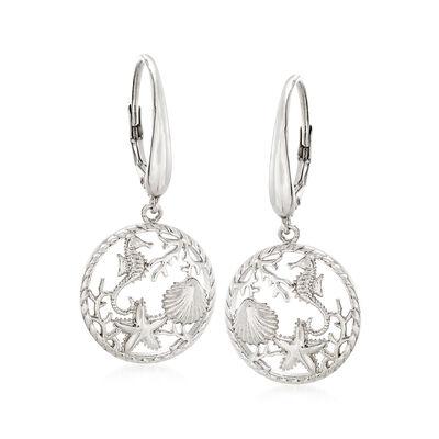 Sterling Silver Earrings. Image Featuring Sterling Silver Sea Life Drop Earrings 913615