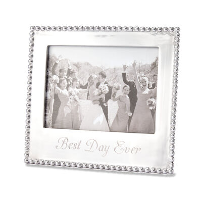 """Mariposa """"Best Day Ever"""" 5x7 Beaded Photo Frame"""