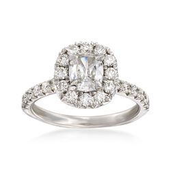 Henri Daussi 1.66 ct. t.w. Diamond Engagement Ring in 14kt White Gold, , default