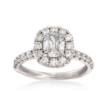 Henri Daussi 1.66 ct. t.w. Diamond Engagement Ring in 14kt White Gold, , default