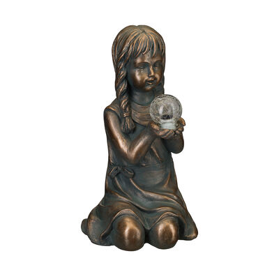 "Regal ""Solar Girl"" Outdoor Garden Statue, , default"