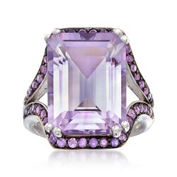 11.75 ct. t.w. Pink and Purple Amethyst Ring in Sterling Silver, , default