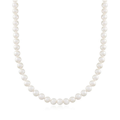 8-8.5mm Cultured Pearl Necklace with Sterling Silver Magnetic Clasp, , default