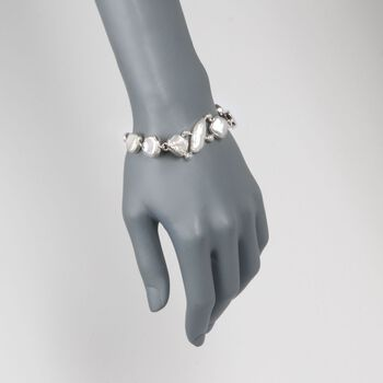 """10-22mm Cultured Biwa Pearl and 3-6mm Cultured Pearl Bracelet in Sterling Silver. 6.5"""", , default"""