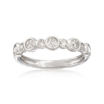 .50 ct. t.w. Bezel-Set Diamond Ring in 14kt White Gold, , default