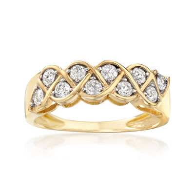 .50 ct. t.w. Diamond Twist Ring in 14kt Yellow Gold, , default