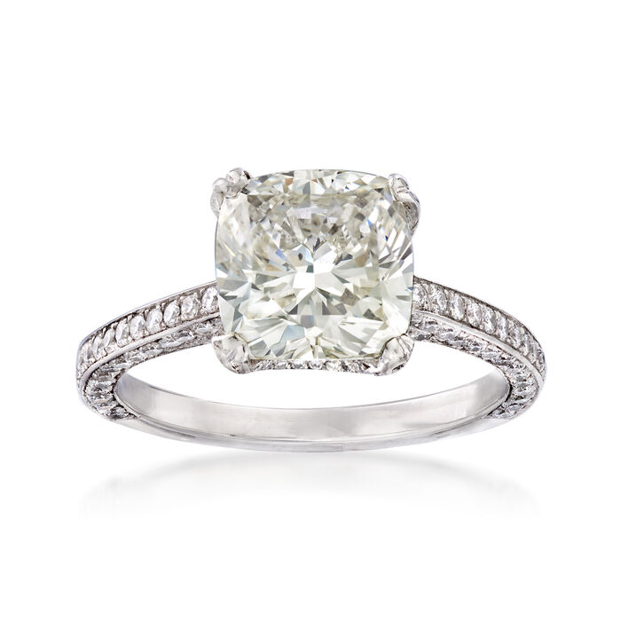 Majestic Collection 4.13 ct. t.w. Diamond Ring in Platinum. Size 7, , default