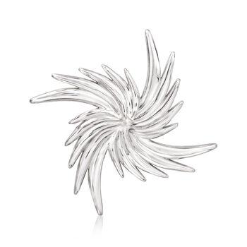 Italian Sterling Silver Pinwheel Pin, , default
