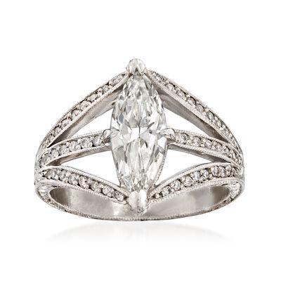 C. 2000 Vintage 1.50 ct. t.w. Diamond Ring in Platinum, , default