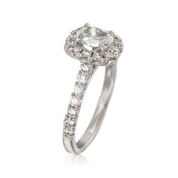 Henri Daussi 1.40 ct. t.w. Diamond Engagement Ring in 14kt White Gold