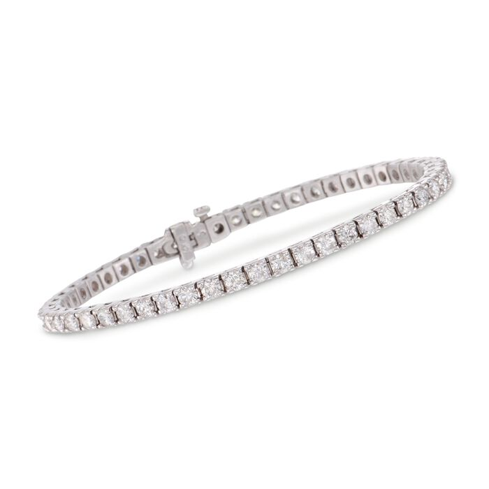 "5.00 ct. t.w. Square Diamond Tennis Bracelet in 14kt White Gold. 7"", , default"