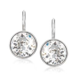"Swarovski Crystal ""Bella Mini"" Drop Earrings in Silvertone, , default"
