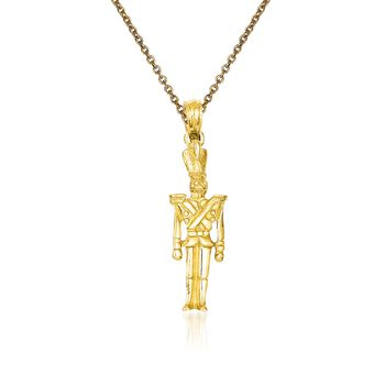 """14kt Yellow Gold Toy Soldier Pendant Necklace. 18"""", , default"""