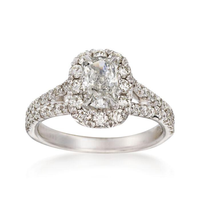 Henri Daussi 1.68 ct. t.w. Diamond Engagement Ring in 18kt White Gold, , default
