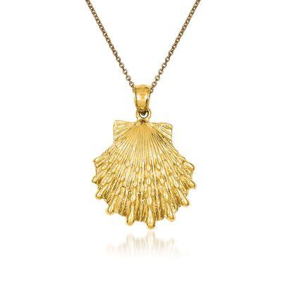 14kt Yellow Gold Lion's Paw Pendant Necklace, , default
