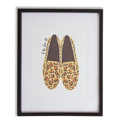 Leopard Shoes Framed Wall Art, , default